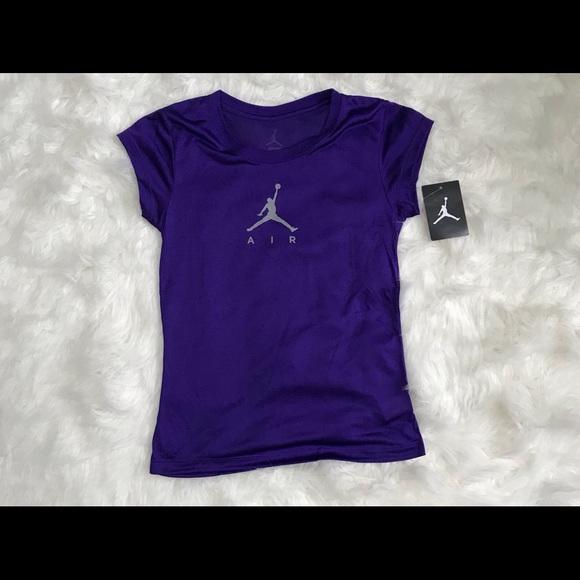 d3d9ea876842 Girls purple Jordan Dri fit tee